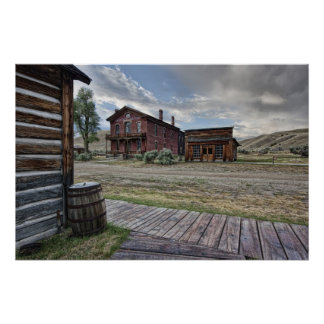 Bannack Ghost Town Mainstreet 2 - Montana Poster
