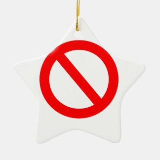 Banned Ceramic Ornament