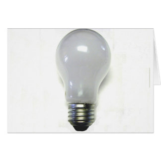 Banned Incondecent Light Bulb Card