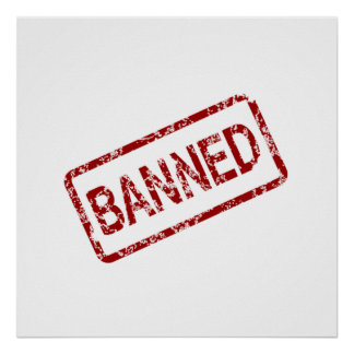 Banned Stamp Poster