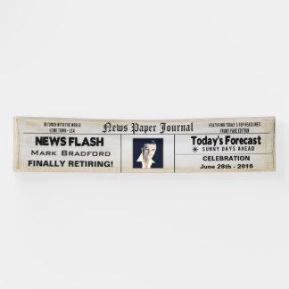 BANNER  12' x 2.5'- NEWS PAPER RETIREMENT - PHOTO