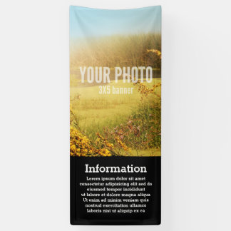 Banner 2.5x8 Vertical Image & Text Template