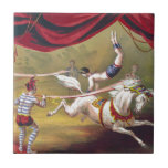 Banner Act Vintage Circus Art Ceramic Tiles