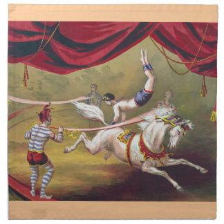 Banner Act - Vintage Circus Art Napkins