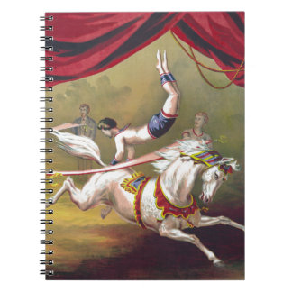 Banner Act Vintage Circus Art Note Book