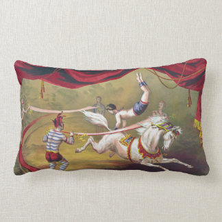 Banner Act - Vintage Circus Art Pillow