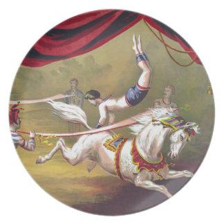 Banner Act Vintage Circus Art Plates