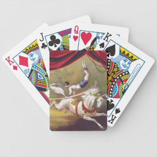 Banner Act Vintage Circus Art Playing Cards