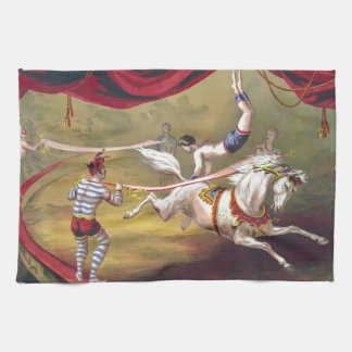 Banner Act Vintage Circus Art Towels