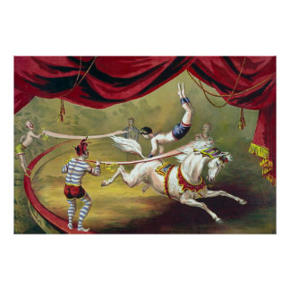 Banner Act ~ Vintage Circus Poster (1875).