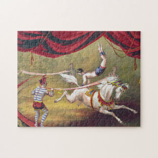 """Banner Act"" Vintage Gibson Circus Art Puzzle"