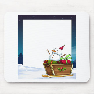 banner and snowman mouse pad