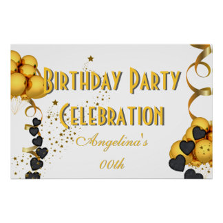 Banner Birthday Celebration Choose your Color Poster