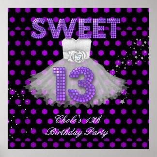 Banner Birthday Sweet 13 Poster