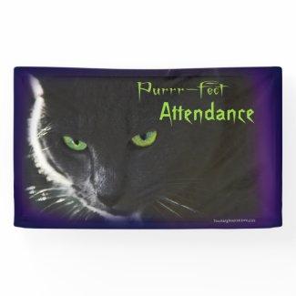 """Banner Bulletin Board """"Purrr-fect Attendance"""""""