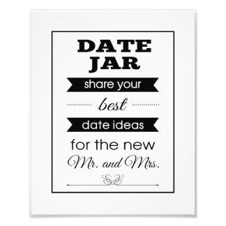 Banner Date Jar Wedding Sign Photo Print