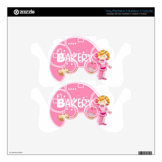 Banner design with baker and cake skin for PS3 controller