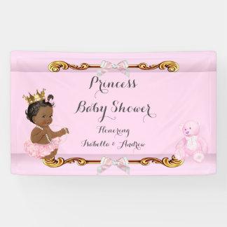 Banner Ethnic Princess Baby Shower Pink Gold
