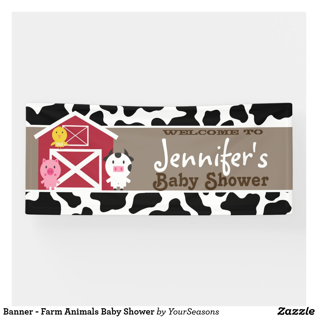Banner - Farm Animals Baby Shower