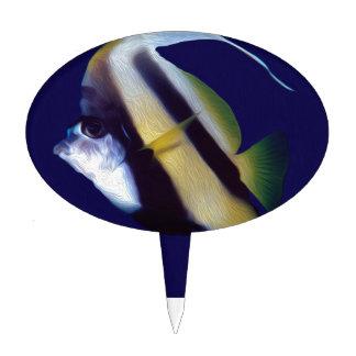 Banner Fish Cake Topper