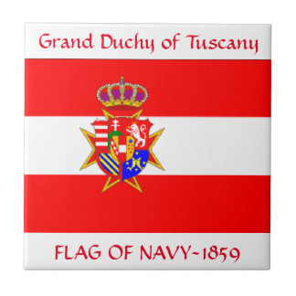 Banner Grand Duchy of Tuscany Tile
