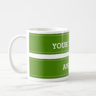 BANNER olive green gradient + your text Coffee Mug