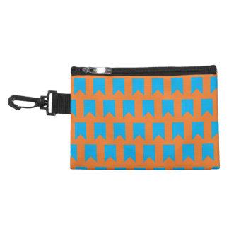 banner pattern blue orange accessory bags