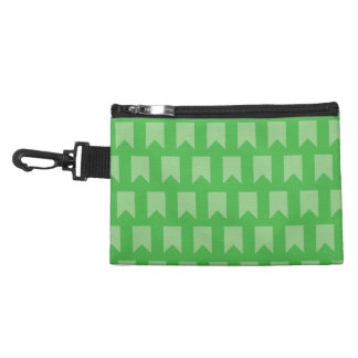 banner pattern green accessory bag