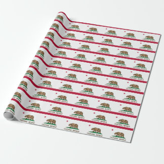 Banner Pattern Of California Wrapping Paper
