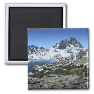 Banner Peak over Garnet Lake - Sierra Nevada Magnet