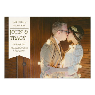 Banner Photo Save the Date Card