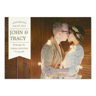 """Banner Photo Save the Date Card 5"""" X 7"""" Invitation Card"""
