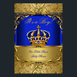 "Banner Prince Boy Baby Shower Blue Gold Crown Poster<br><div class=""desc"">Banner Poster,  Prince Boy Baby Shower Blue Gold Crown</div>"