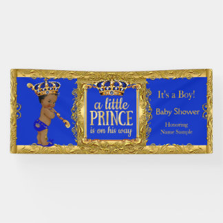 Banner Prince is on his way Blue Gold Ethnic