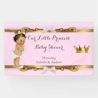 Banner Princess Baby Shower Pink White Gold