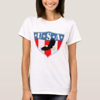 Banner Sheild USA Eagle Flight T-Shirt