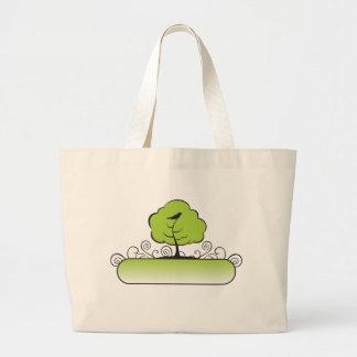 Banner_tree-Green Jumbo Tote Bag