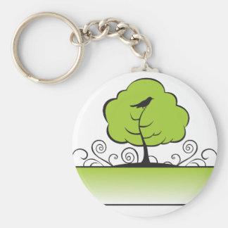Banner_tree-Green Llavero Redondo Tipo Pin