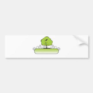 Banner_tree-Green Pegatina De Parachoque