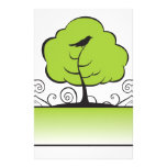 Banner_tree-Green Personalized Stationery