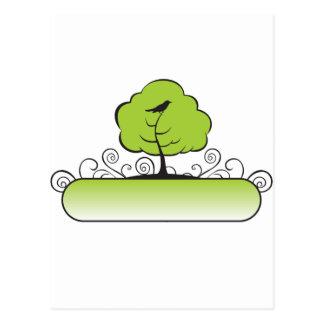 Banner_tree-Green Postcard