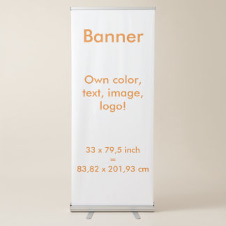 Banner Vertical Retractable uni White ~ Own Color