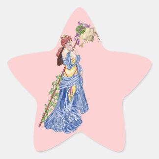 Banner Year Star Sticker