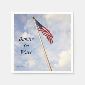 BANNER YET WAVE AMERICAN FLAG NAPKIN