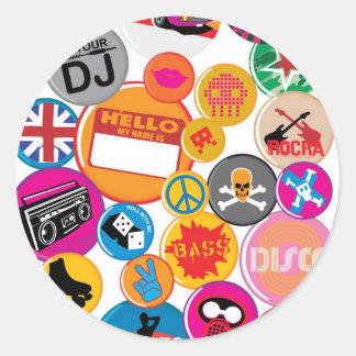 bannere-rotunde round sticker