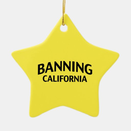 Banning California Double-Sided Star Ceramic Christmas Ornament