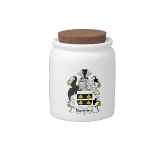 Banning Family Crest Candy Jars