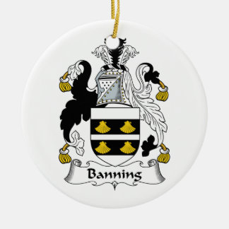 Banning Family Crest Christmas Tree Ornaments
