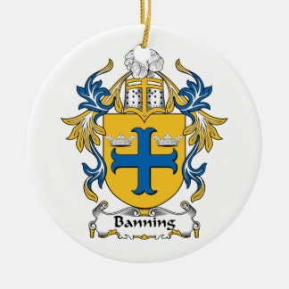 Banning Family Crest Ornament