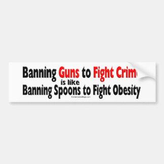 Banning Guns Car Bumper Sticker